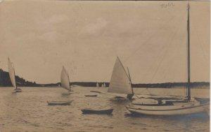 RP; CAPE COD , Massachusetts, 1908; Sailboats