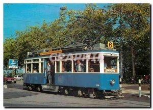 Postcard Modern Zuerchertram Vierachstriebwagen Linie 6