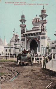 Elephant At Entrance To Ceylon Village Franco-British Exhibition London 1908