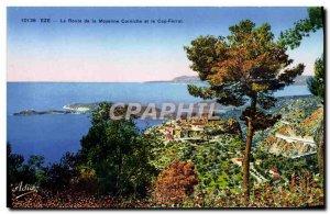 Old Postcard Eze Moyenne Corniche Road and Cap Ferrat