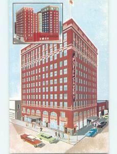 Unused Pre-1980 OLD CARS & SAVERY HOTEL Des Moines Iowa IA Q5683
