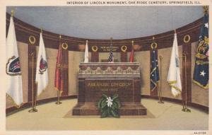 Illinois Springfield Interior Of Lincoln Monument Oak Ridge Cemetery Curteich
