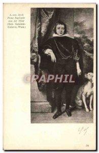 Old Postcard A van Dyck Prinz Ruprecht von der Wien Pflaz Kais Gemälde Galle...