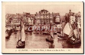 Le Havre - L Anse Drivers - The Museum and Rue de Paris - Old Postcard