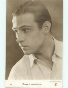 rppc 1928 Rudolph Valentino EXTREMELY FAMOUS SILENT FILM ACTOR AC8202