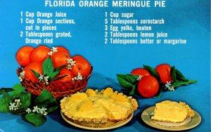 Recipe - Florida Orange Meringue Pie