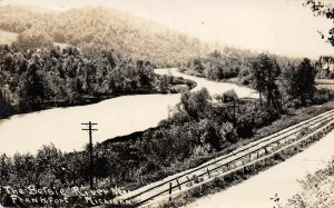 LPM46 Frankfort Betsie River    Michigan RPPC Postcard