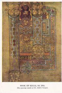 Book Of Kells Opening Words OF St John's Gospel Trinity College Library Dublin