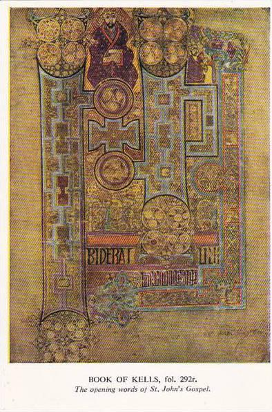 Book Of Kells Opening Words OF St John's Gospel Trinity College Library Dublin