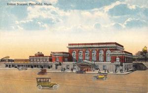 Pittsfield Massachusetts Union Station Birdseye View Antique Postcard K34965