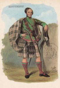 MacPherson Scottish Kilt Fashion Scotland Postcard