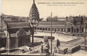 Marseille CPA exposition Coloniale 1922- Temple d'Angkor-Vat ( Vue ...(174542)