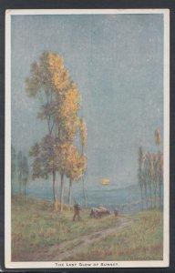 Art Postcard - The Last Glow of Sunset - Artist Baxter Morgan HM264
