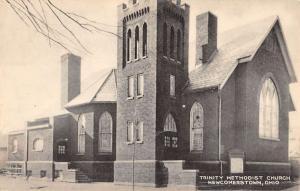 Newcomerstown Ohio Trinity Methodist Church Antique Postcard K49786