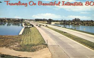 Traveling on Beautiful Highway Interstate I80 - pm 1972