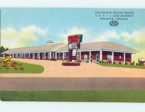 Unused Pre-1980 TRAVELERS HAVEN MOTEL Marietta Georgia GA M3310