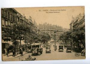 173205 FRANCE PARIS Italiens Boulevard MERSEDES Bus Old PC