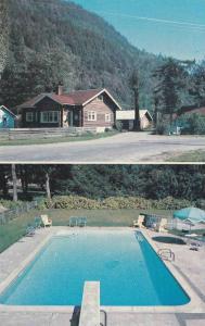 Swimming Pool, Bungalow Motor Court,  Harrison Hot Springs,  B.C.,  Canada,  ...