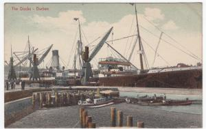 South Africa; The Docks, Durban PPC Unposted, By Rittenberg, Cranes & Cargo Ship