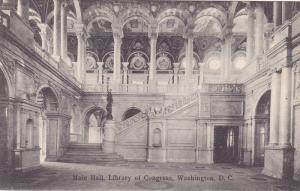 Interior,  Main Hall,  Library of Congress,  Washington D.C.,  00-10s