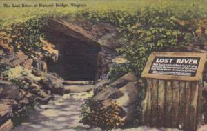 Virginia Blue Ridge Mountains The Lost River At Natural Bridge 1951