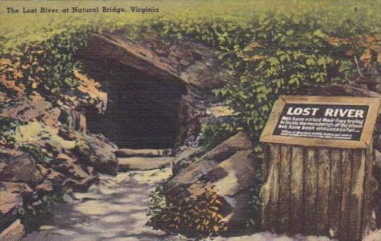 Virginia Blue Ridge Mountains The Lost River At Natural Bridge 1951