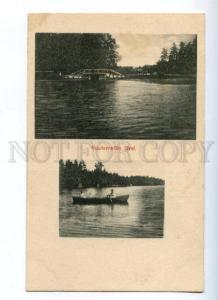 172031 FINLAND Kuuterselan Jarvi Vintage postcard
