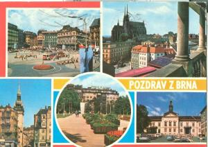 Czech Republic, Brno, Pozdrav z Brna, 1970s used Postcard