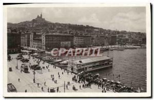 Old Postcard Marseille Quai des Belges and ND Guard