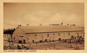 Post Exchange Hammer Army Air Field Fresno California WWII postcard