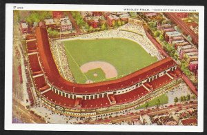 Wrigley Field birdseye view Chicago Illinois Unused c1930s
