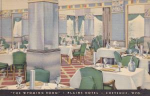 The Wyoming Room, Plains Hotel, Cheyenne, Wyoming, PU-1940