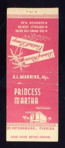 St Petersburg, Florida/FL Matchcover, Princess Martha Restaurant