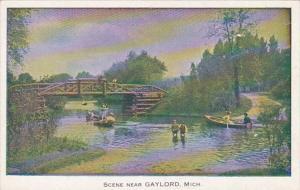 Michigan Boating Scene Near Gaylord