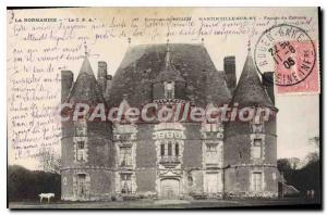 Old Postcard Rouen Martinville Sur Ry Facade Of Castle
