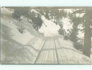rppc Pre-1917 SNOWY ROAD WITH SLED TRACKS AC8293