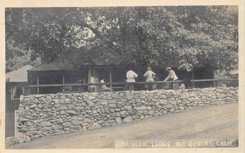 RPPC Oak Glen Lodge Mt. Resort Claremont, CA c1920s Pierce Vintage Postcard
