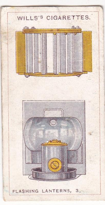 Cigarette Card  Wills Signalling Series No. 43 Flashing Lanterns 3