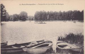 Boats, Perspective Du Lac Du Bois De Boulogne, Paris Perspective, France, 190...