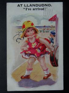 Greeting AT LLANDUDNO - IVE ARRIVED c1931 Postcard by Inter Art Co.