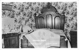 Auburn California County Placer Bedroom 1860s RPPC Photo Postcard 21-10218