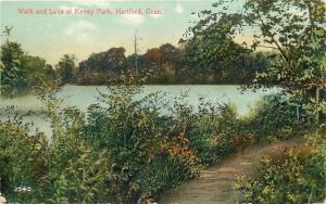Hartford Connecticut~Walk And Lake at Keney Park c1907