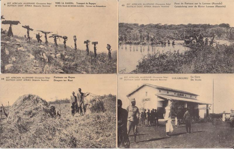 GERMAN EAST AFRICA AFRIQUE DE L'EST BELGIAN OCCUPATION 12 CPA (pre-1940)(L2837)