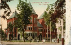 Central School Chatham ON Ontario c1911 Postcard D93
