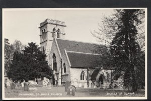 Middlesex Postcard - Stanmore - St John's Church     RS4235