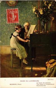 CPA Musée du Luxembourg MEUNIER - La lecon de clavecin (285835)