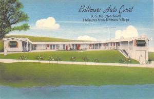 Biltmore Auto Court~Picnic Grounds~Kennels~Bass Fishing~Linen Roadside 1958 PC