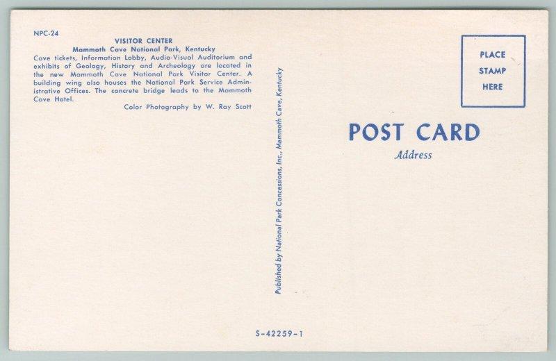 Mammoth Cave National Park Kentucky~Visitor Center~Vintage Postcard