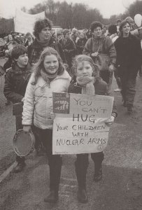 Anti Nuclear Rally at Greenham Common London 1983 Postcard