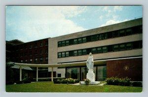 Columbus OH, Mount Carmel Hospital, Chrome Ohio Postcard
